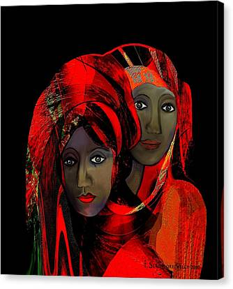000 - Colour Of Passion Canvas Print by Irmgard Schoendorf Welch
