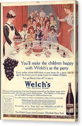 1910s Usa Welchs Juice Children�s Canvas Print by The Advertising Archives