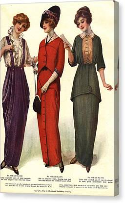 1910s Usa Womens Canvas Print by The Advertising Archives