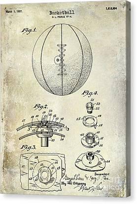 1927 Basketball Patent Drawing Canvas Print by Jon Neidert