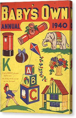 1940 1940s Uk Babies Own Annuals S Canvas Print by The Advertising Archives