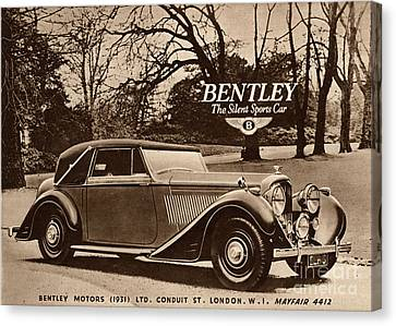 1940s Uk Bentley Sports Cars Canvas Print by The Advertising Archives