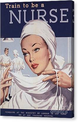 1940s Uk Nurses Recruitment World War Canvas Print by The Advertising Archives