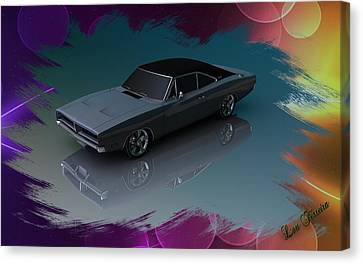 1969 Dodge Charger Canvas Print by Louis Ferreira