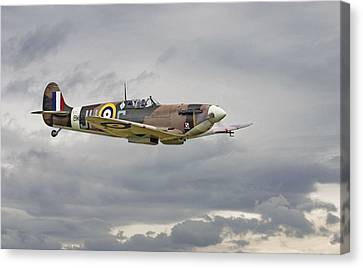 317 Sqdn Spitfire Canvas Print by Pat Speirs