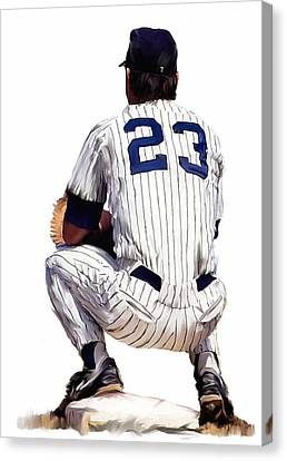 A Moment To Remember II Don Mattingly  Canvas Print by Iconic Images Art Gallery David Pucciarelli