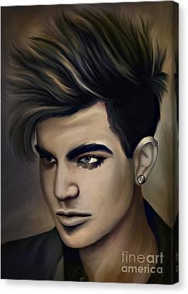 Adam Lambert Canvas Print by Andrzej Szczerski