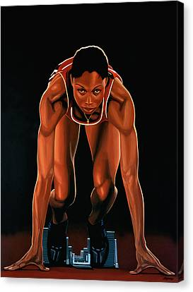 Allyson Felix Painting  Canvas Print by Paul Meijering