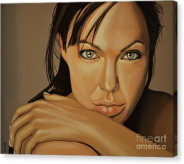Angelina Jolie Voight Canvas Print by Paul Meijering
