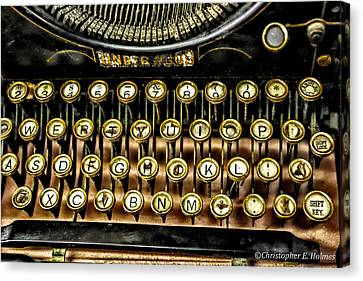Antique Keyboard Canvas Print by Christopher Holmes