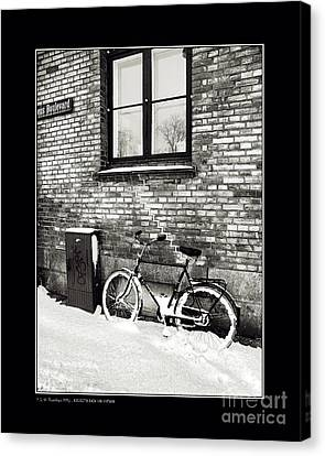 Bicycle Under A Window Canvas Print by Pedro L Gili
