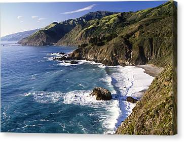 Big Sur At Big Creek Canvas Print by George Oze