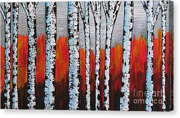 Birch Trees Canvas Print by Beverly Livingstone