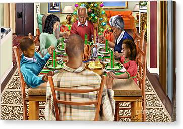 Bless Us O Lord And These Thy Gifts Canvas Print by Reggie Duffie