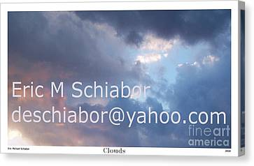 Blue And Purple Parting Clouds Print Canvas Print by Eric  Schiabor