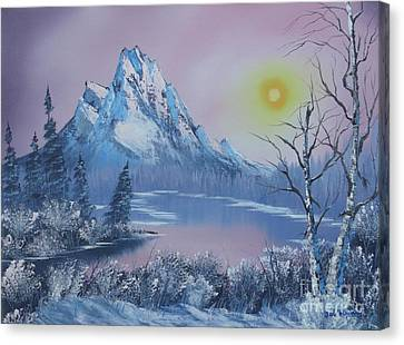 Blue Winter's Sunglow  Canvas Print by Bob Williams