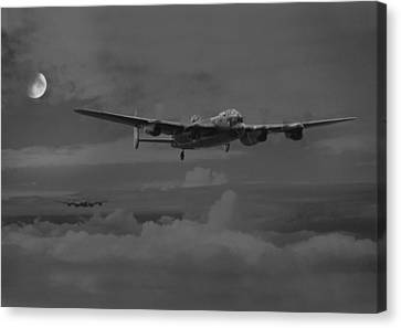 Bomber's Moon Canvas Print by Pat Speirs