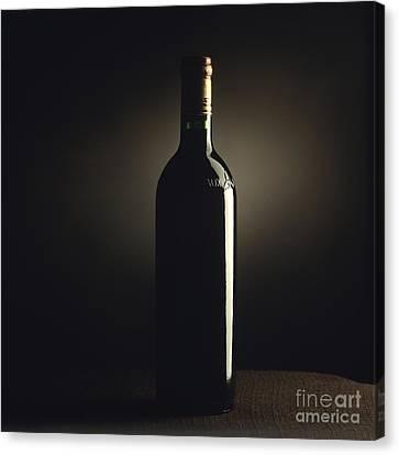 Bottle Of Bordeaux Wine Canvas Print by Bernard Jaubert