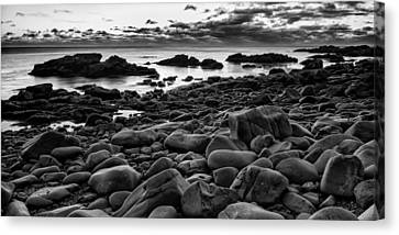 Boulders At Sunrise Marginal Way Canvas Print by Jeff Sinon