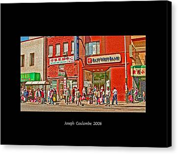 Bus Stop  Canvas Print by Joseph Coulombe