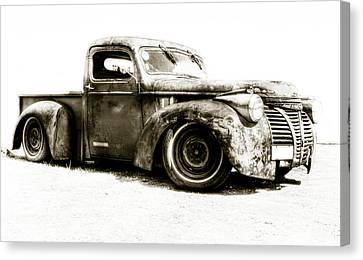 Chevy Pickup Patina  Canvas Print by motography aka Phil Clark
