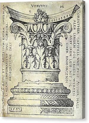 Corinthian Column Canvas Print by Jon Neidert