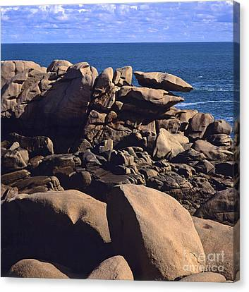 Cotes D'armor. Cote De Granit Rose .pink Granite Coast. Brittany. France Canvas Print by Bernard Jaubert