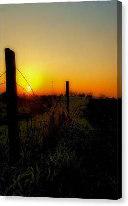 Country Sunrise Canvas Print by Tom Druin
