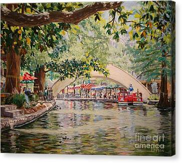 Cruising On The River -riverwalk Canvas Print by Terrie Leyton