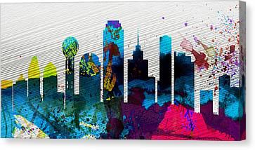 Dallas City Skyline Canvas Print by Naxart Studio
