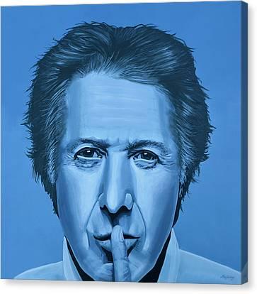 Dustin Hoffman Painting Canvas Print by Paul Meijering