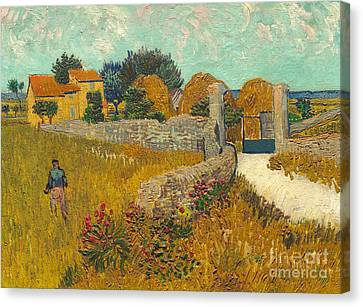 Farmhouse In Provence Canvas Print by Vincent van Gogh