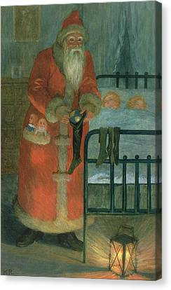 Father Christmas  Canvas Print by Karl Roger