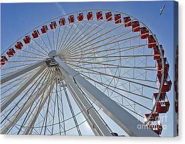 Ferris Wheel Canvas Print by Oleksandr Koretskyi