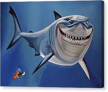 Finding Nemo Painting Canvas Print by Paul Meijering