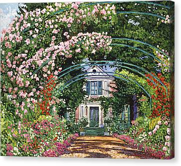 Flowering Arbor Giverny Canvas Print by David Lloyd Glover