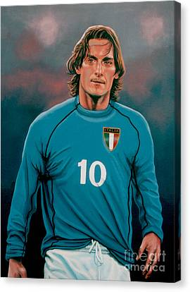 Francesco Totti Italia Canvas Print by Paul Meijering