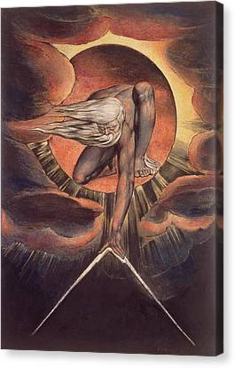 Frontispiece From 'europe. A Prophecy' Canvas Print by William Blake