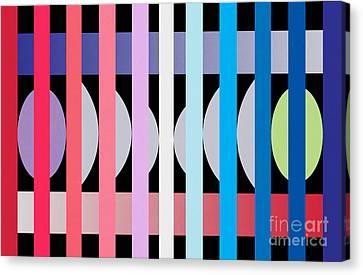 Fun Geometric  Canvas Print by Mark Ashkenazi