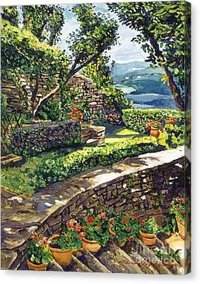 Garden Stairway Canvas Print by David Lloyd Glover