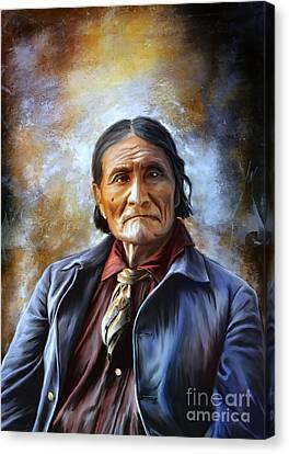 Geronimo Canvas Print by Andrzej Szczerski