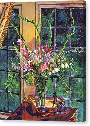 Gladiola Arrangement Canvas Print by David Lloyd Glover