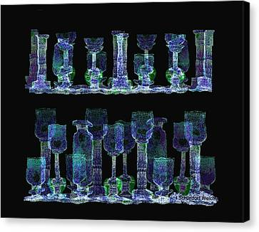 Glasses  - 111 Canvas Print by Irmgard Schoendorf Welch