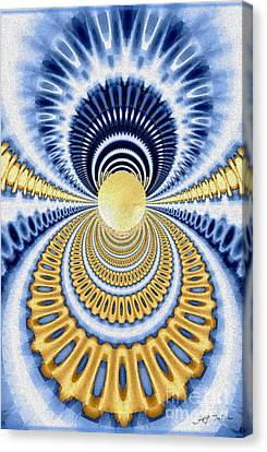 Golden Pearl Seashell Canvas Print by Heinz G Mielke