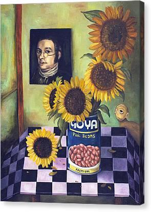 Goyas Canvas Print by Leah Saulnier The Painting Maniac