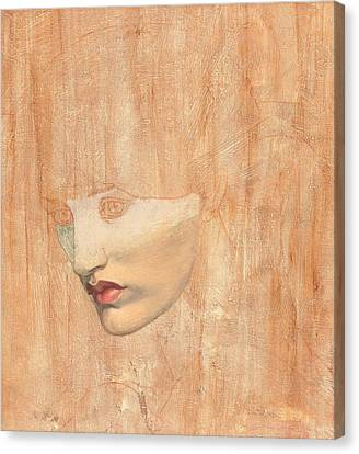 Head Of Proserpine Canvas Print by Dante Charles Gabriel Rossetti
