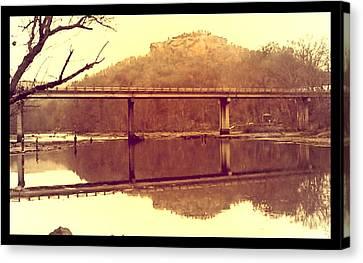 .  Highway 110 Bridge Near Heber Springs Arkansas Canvas Print by Brian Hubmann