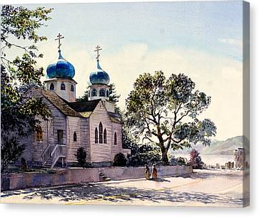 Holy Resurrection Cathedral Kodiak Canvas Print by Vladimir Zhikhartsev