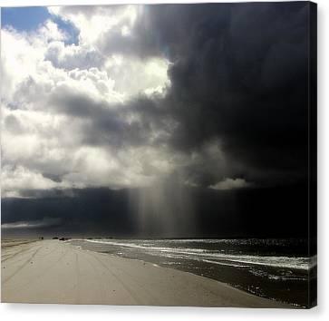Hurricane Glimpse Canvas Print by Karen Wiles