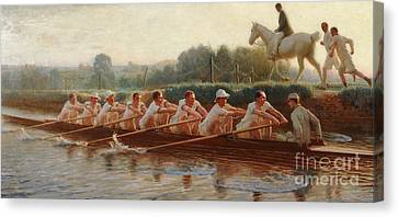 In The Golden Days Canvas Print by Hugh Goldwin Riviere